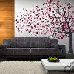 salon için ağaç temalı duvar çıkartması 2016