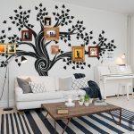 salona renk katan duvar dekorasyon fikirleri
