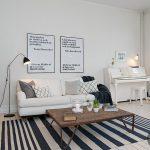sıcak ve doğal iskandinav salon stili