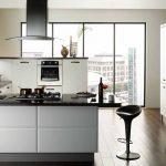 siyah beyaz modern mutfak dekorasyonu 2016