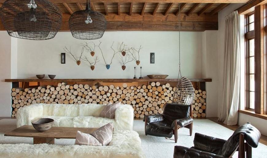 Do al ve s cak bir tarz wooden dekorasyon dekorblog for Ev dekorasyonu salon ornekleri