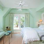 yatak odası mint yeşili duvar boyası