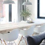 etkileyici iskandinav yemek odası