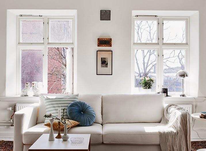 küçük beyaz ev dekorasyonu
