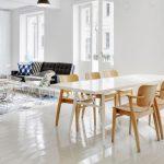 rahat ve modern iskandinav yemek odası