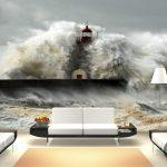 büyük dalgalar dekoratif duvar posteri