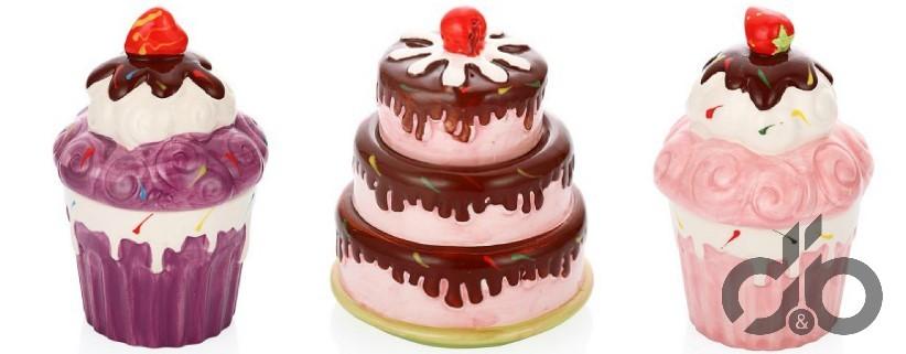 Cupcake dekoratif saklama kavanozları