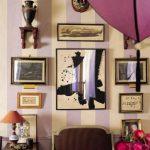 dekoratif çizgili duvar kağıtları