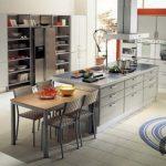 dekoratif yuvarlak mutfak halı modeli