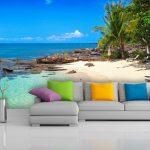 deniz manzaralı 3 boyutlu dev poster