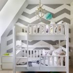 iskandinav tarzı çocuk odası için zigzag desenli duvar kağıtları