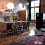 loft tarzı modern mutfak