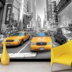 Manhattan Taxi Poster Duvar Kağıdı