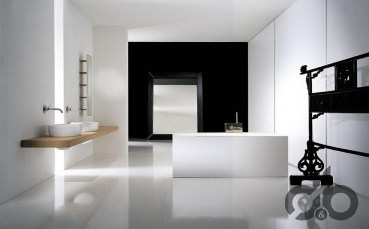 minimalist banyo dekorasyonu