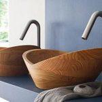 modern ahşap banyo lavaboları