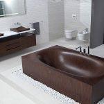 modern ahşap küvet ve ahşap lavabolar