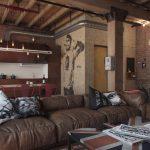 modern endustriyel loft iç mekan dekorasyonu