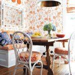 mutfak için renkli duvar kağıtları