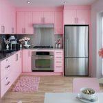 pembe beyaz mutfak dekorasyonu