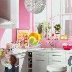 pembe mutfak duvar boyası