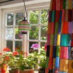rengarenk desenli  mutfak perdeleri