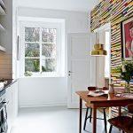 renkli mutfak duvar kağıdı modelleri