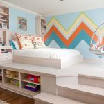 renkli zigzag desenli duvar kağıtları