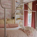 toz pembe yatak odası dekorasyonu