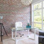 tuğla duvarlar ile çarpıcı home ofis dekorasyonu