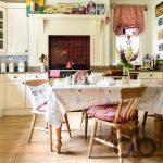 vintage country tarzı dekore edilmiş mutfak
