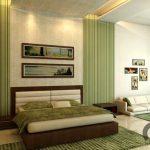 yatak odası çizgili duvar kağıtları