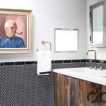 zarif ahşap banyo dekorasyonu