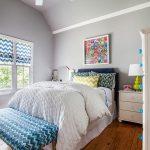 zigzag desenli yatak odası dekorasyonu
