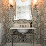 banyoda desenli duvar kağıdı modelleri