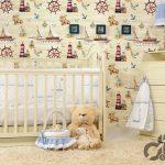 çocuk odası için dekoratif duvar kağıdı