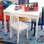 cocuk odası için renkli ahşap çalışma masa ve sandalye takımı