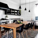 estetik siyah beyaz mutfak dekorasyonu