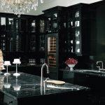 gosterişli siyah mutfak dekorasyonu