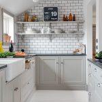 küçük beyaz mutfak dekorasyonu 2016