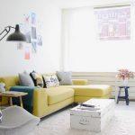 küçük salonlar için renkli fikirler