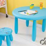 mavi yuvarlak cocuk masa sandalye takımı 2016