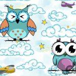 sevimli baykuşlar çocuk odası posterleri