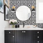 siyah beyaz banyo duvar kağıdı