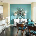 turkuaz yemek odası dekorasyon fikirleri