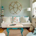 yazlık ev dekorasyonu ve turkuaz detaylar