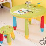 yuvarlak renkli cocuk masa sandalye seti 2016