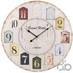 ahşap vintage tarzı dekoratif saat