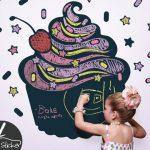 cupcakes eğlenceli duvar sticker