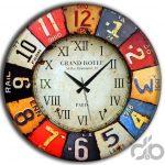 frank ray renkli retro tarzı dekoratif saat