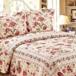 gardenya cotton house cicek desenli yatak ötrüsü